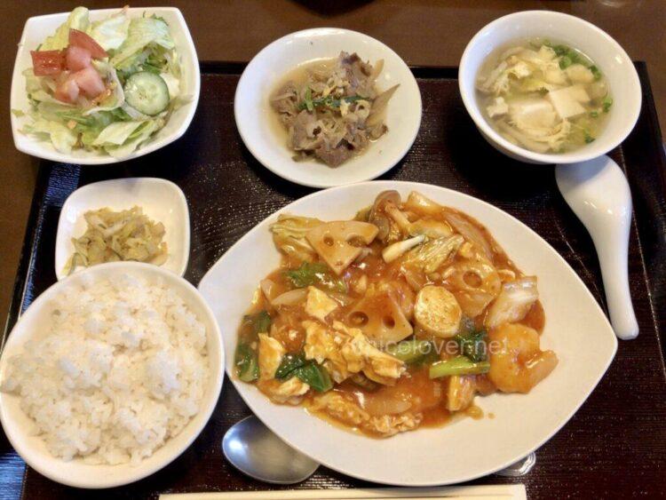 彩華 エビチリ野菜